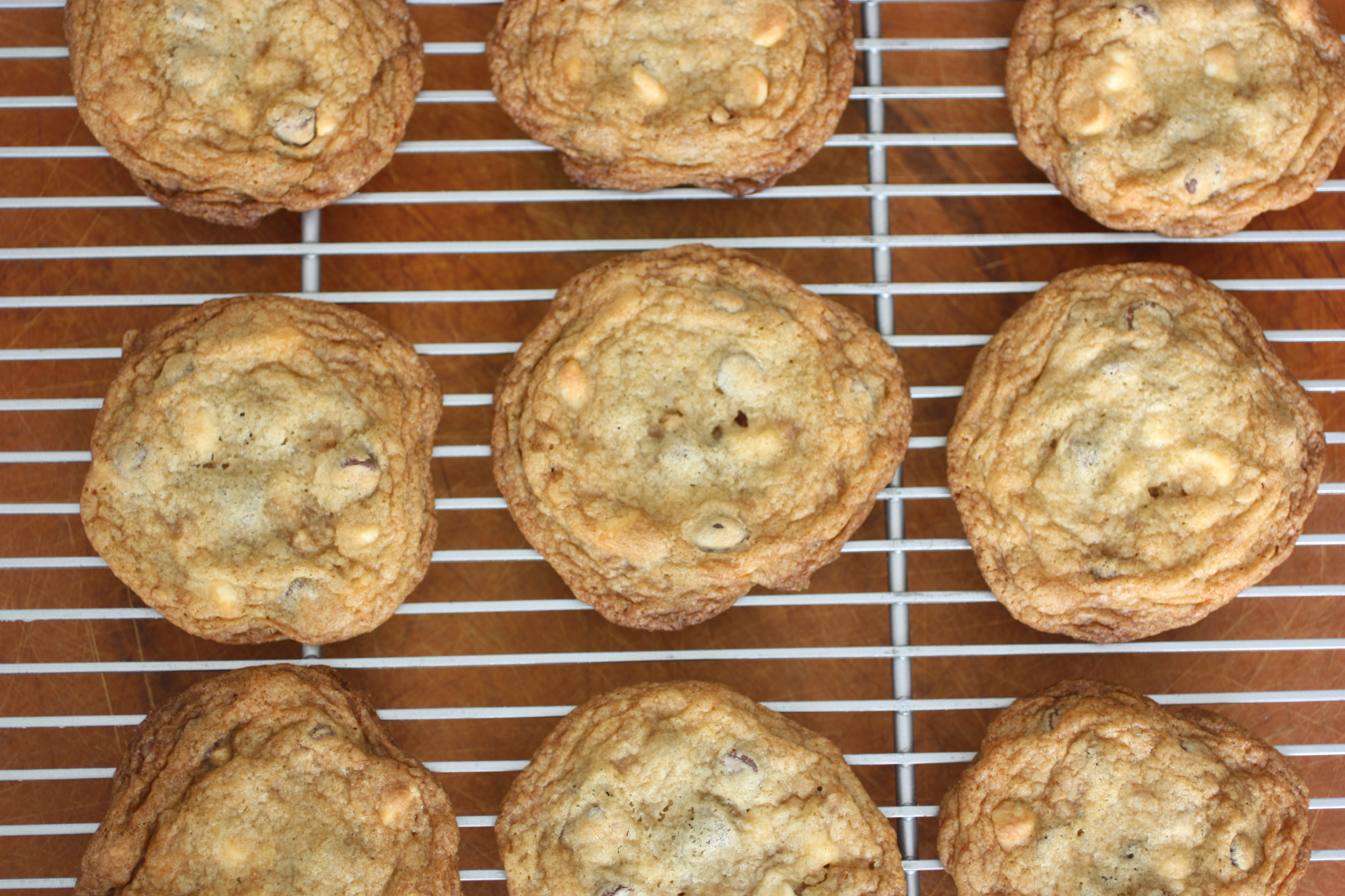 White Chocolate-, Chocolate-, and Toffee-Chip Cookies |