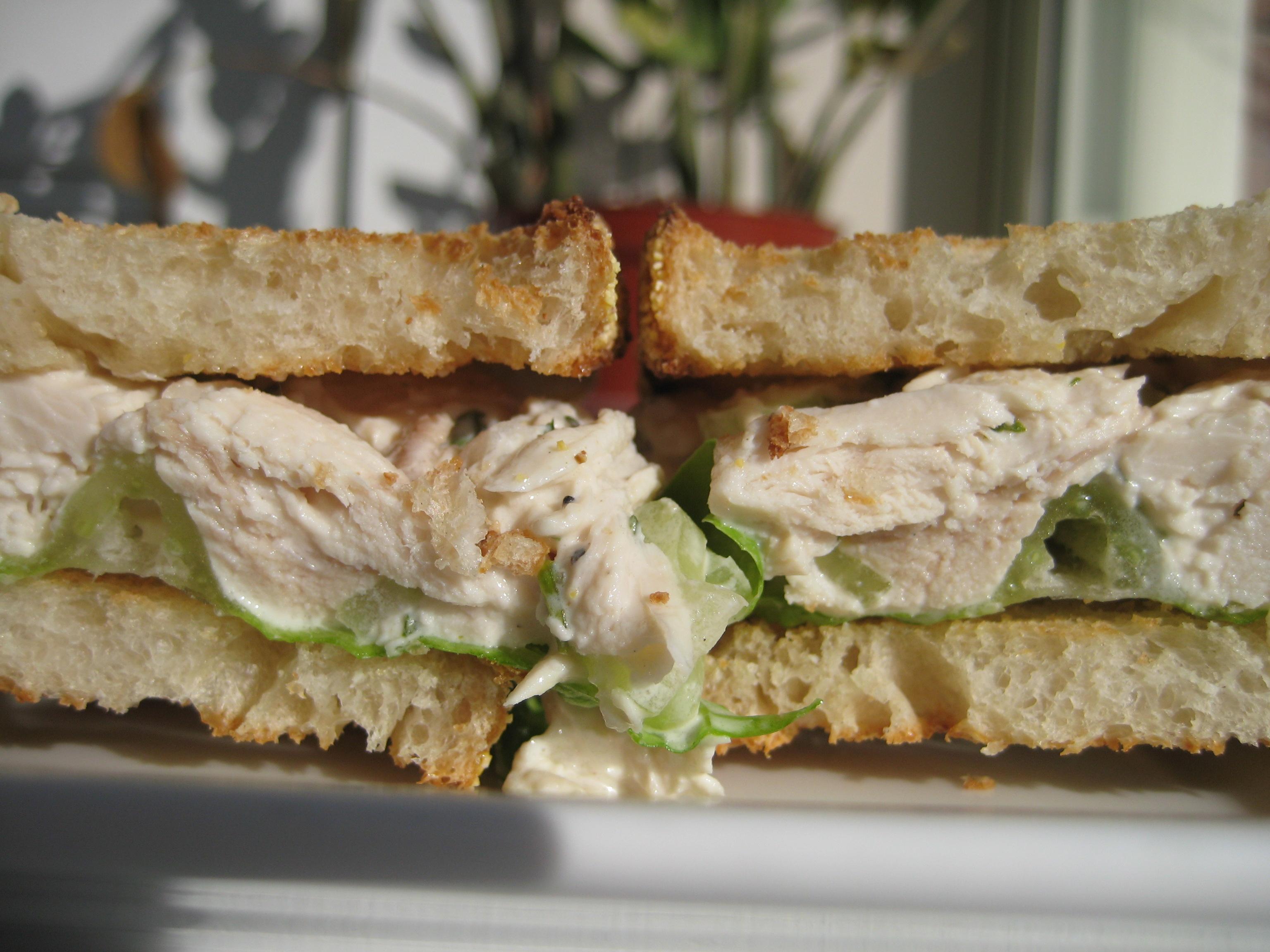 how to cook chicken salad sandwich