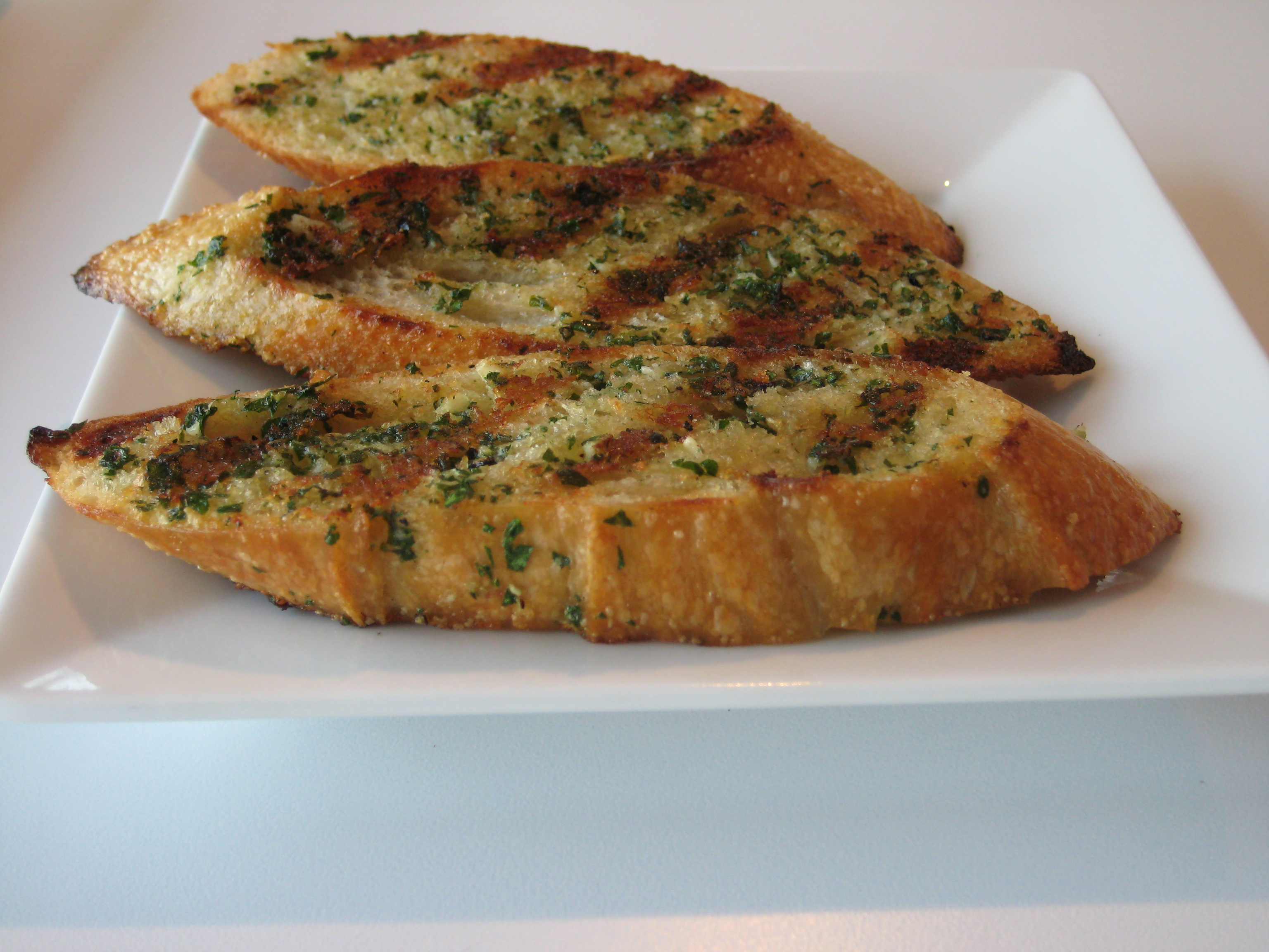 ... the other day, grilled garlic bread would make the perfect appetizer