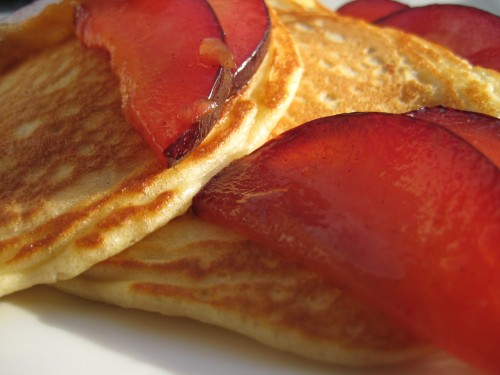 Plum Pancakes