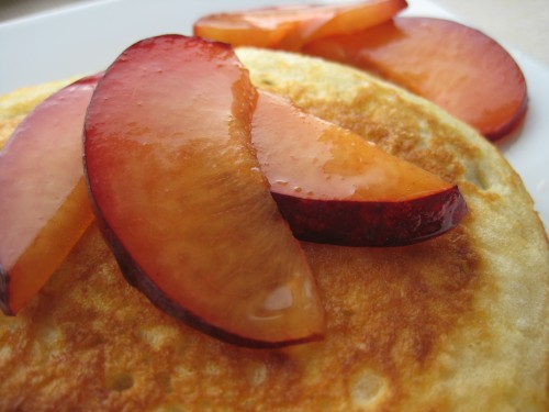 Buttermilk Plum Pancakes