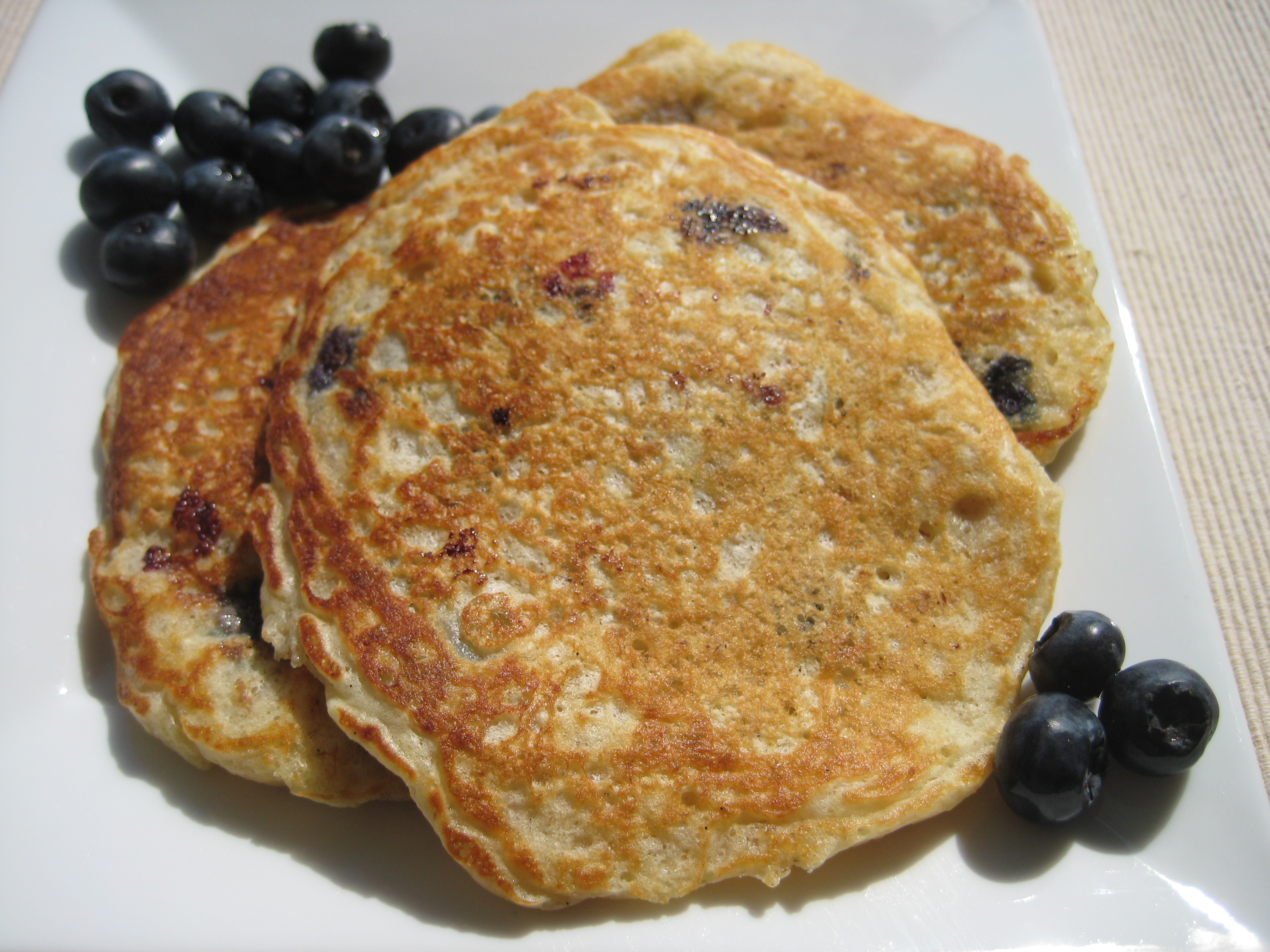 Blueberry Oatmeal Pancakes |