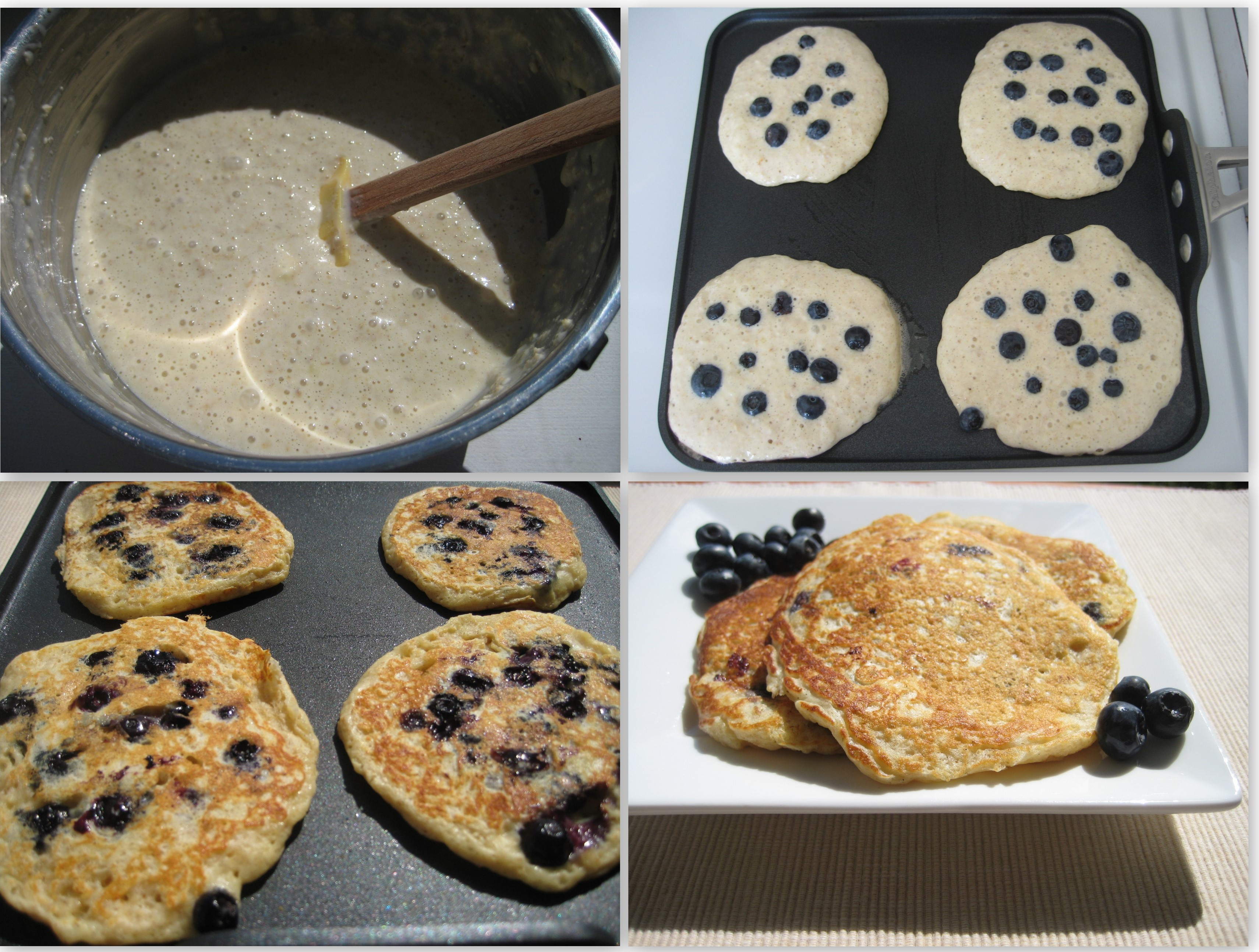 Blueberry Oatmeal Pancakes Collage