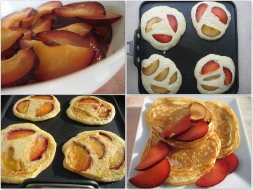 Plum Pancakes Collage
