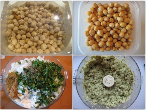 Falafel Prep Collage