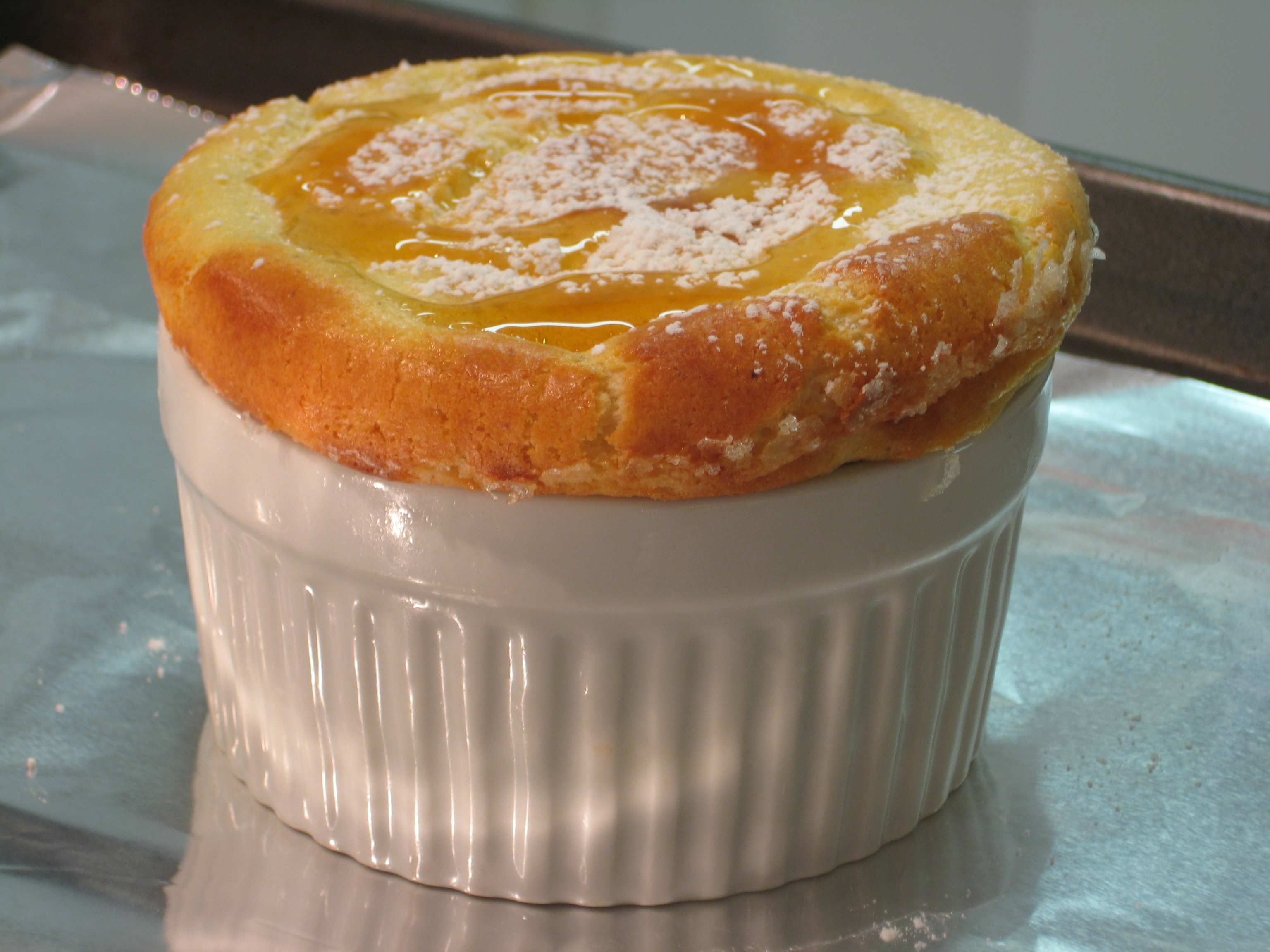Blue Cheese Souffle after Refrigerating