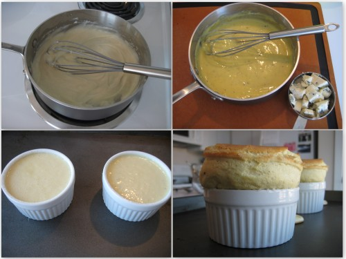 Blue Cheese Souffle Collage