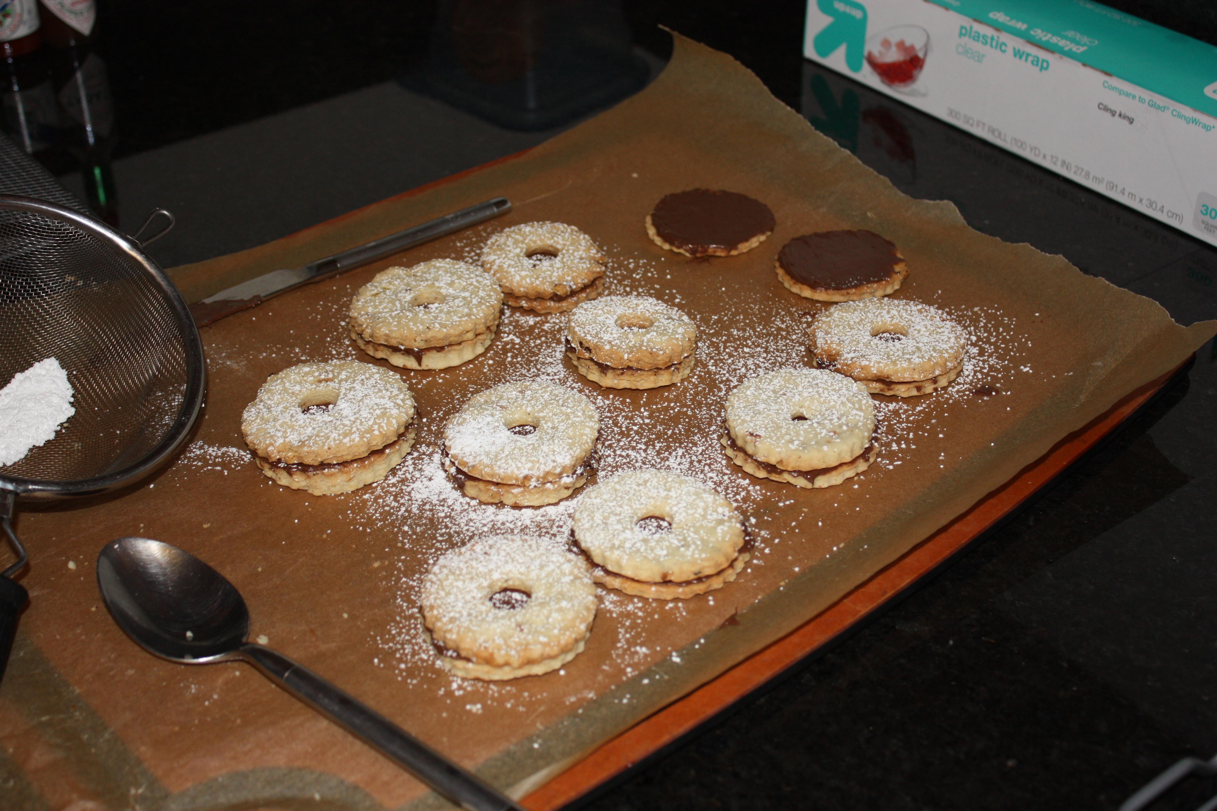 Chocolate Hazelnut Shortbread Cookies |