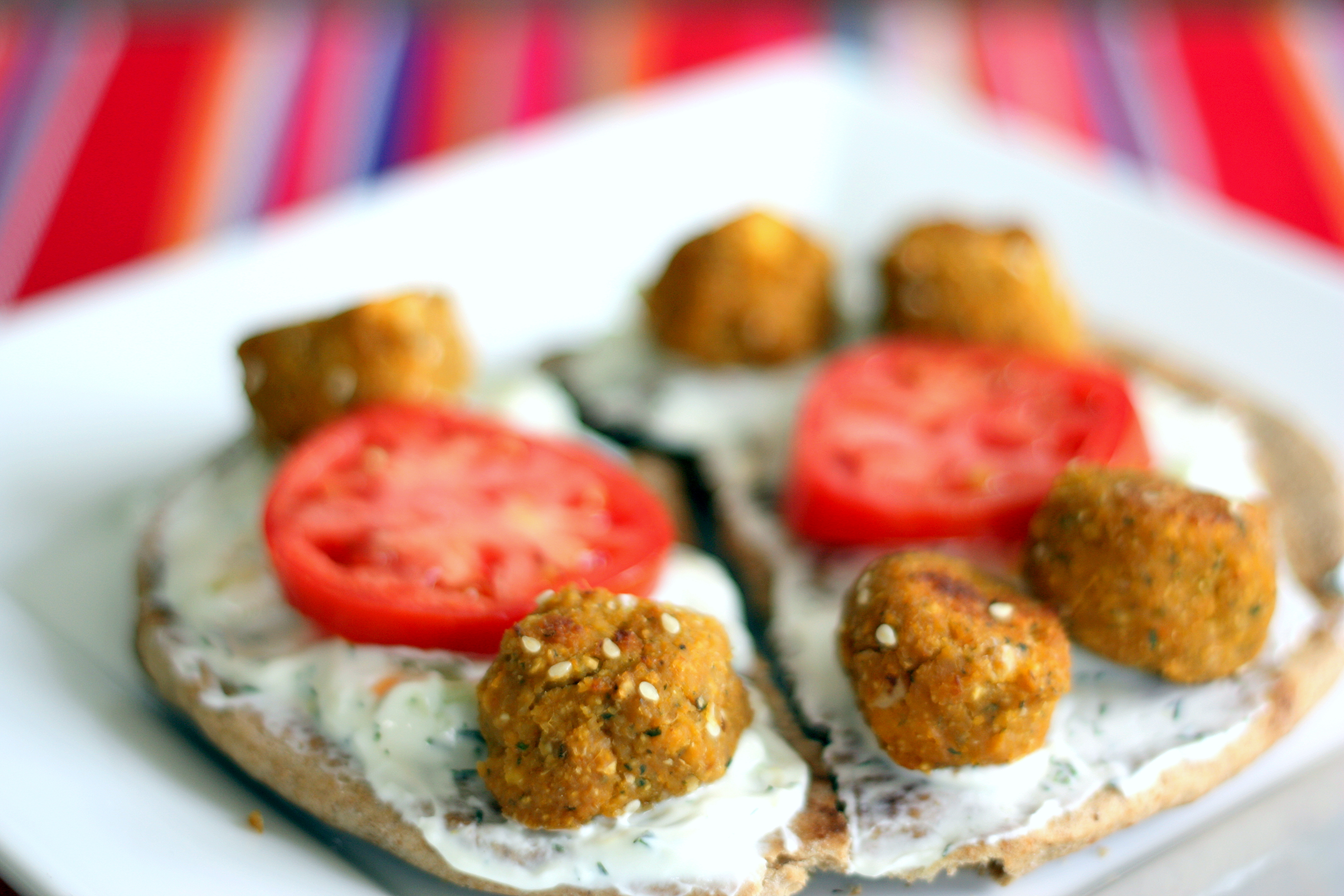 Baked Sweet Potato Falafel